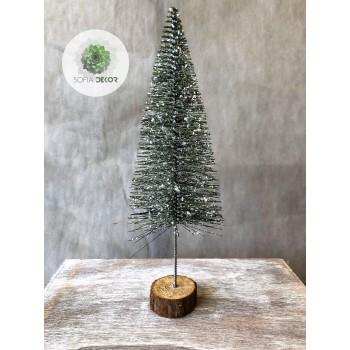Fenyőfa glitteres 21cm