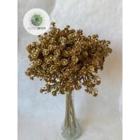 Rezgő kötegelt csokor x12 arany