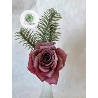 Rózsa pick fenyőággal bordó