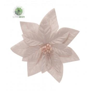 Mikulásvirág csipeszes 16cm rózsaszín