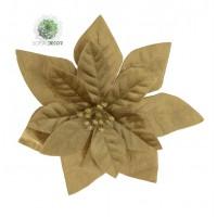 Mikulásvirág csipeszes 16cm arany