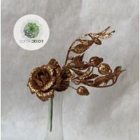 Glitteres rózsa pick barna