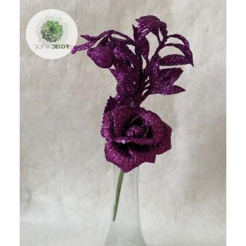Glitteres rózsa pick lila