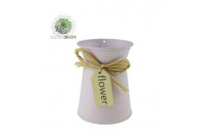 Kaspó fém 8*H10 masnival rózsaszín