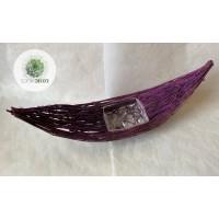 Rattan csónak nagy glitteres lila