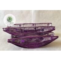 Rattan csónak S/2 lila