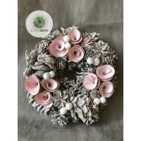 Terméses koszorú rózsaszín