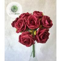 Polifoam rózsa csokor x8 (TÖBB SZÍNBEN!)