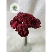 Rózsa kötegelt csokor 5+3 piros, krém