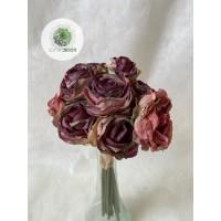 Rózsa kötegelt csokor x10 26cm