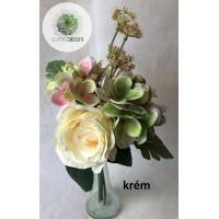 Rózsa-hortenzia kötegelt csokor x5 (TÖBB SZÍNBEN!)