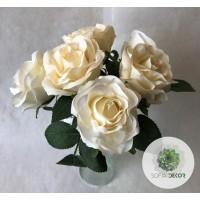 Rózsa kötegelt csokor x6 barack