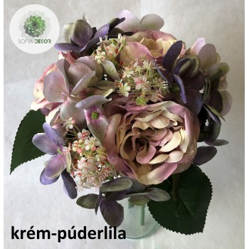 Peónia-hortenzia kötegelt csokor x6 (TÖBB SZÍNBEN!)