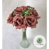 Rózsa kötegelt csokor x9 (TÖBB SZÍNBEN!)