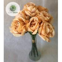 Rózsa kötegelt csokor x7 32cm (TÖBB SZÍNBEN!)