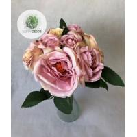 Rózsa kötegelt csokor x9 24cm (TÖBB SZÍNBEN!)