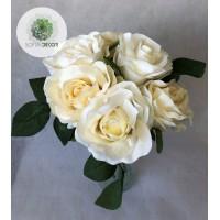 Rózsa csokor x6  25cm (TÖBB SZÍNBEN!)