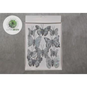 Pillangó szett ezüst csipeszes
