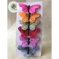 Pillangó csipeszes színes S/6