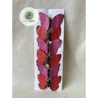 Pillangó csipeszes piros-mályva S/6