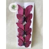 Pillangó csipeszes bordó S/6
