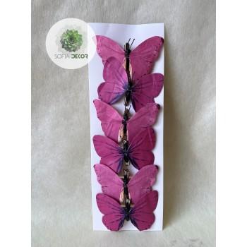 Pillangó csipeszes rózsaszín S/6