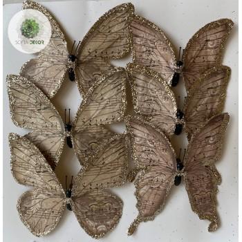 Pillangó csipeszes barna S/6