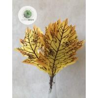 Őszi levélköteg 24cm sárga