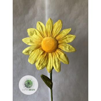 Papír virág margaréta 70cm (TÖBB SZÍNBEN!)