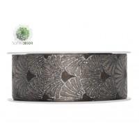 Szalag mintás textil 40mm*20m barna,ezüst
