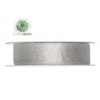 Szalag csillogós textil 25mm*25m ezüst