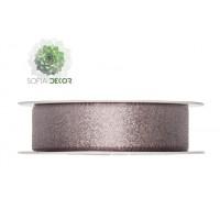 Szalag csillogós textil 25mm*25m rózsaszín