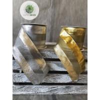 Szalag ezüst, arany 6cm*10m