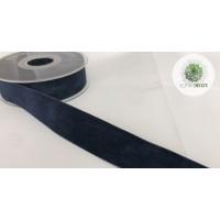 Szalag bársony navy kék, 40mm*7m