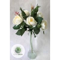 Rózsaág 55cm krém