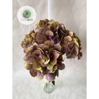 Hortenzia csokor x5 zöld-pink 50cm