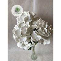 Hortenzia csokor x5 fehér 50cm