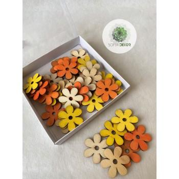 Fa virág sárga, narancs, natúr S/42