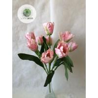 Tulipán csokor cakkos x9 (TÖBB SZÍNBEN!)