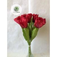Tulipán kötegelt csokor cakkos x7  (TÖBB SZÍNBEN!)