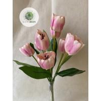 Tulipán csokor x9 45cm (TÖBB SZÍNBEN!)