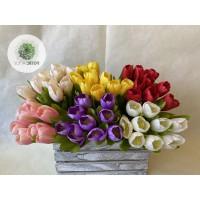 Tulipán nyílt kötegelt csokor x9
