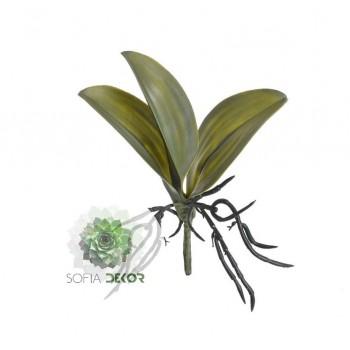 Orchidea levél (3leveles) 32*22cm